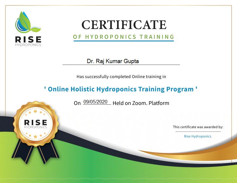 hydroponics Farming Training in India